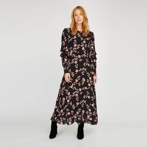 Fit-n-Flare Ruffle Floral Dress