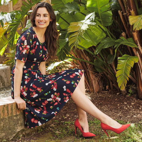 Paintbox Floral Fit and Flare Dress