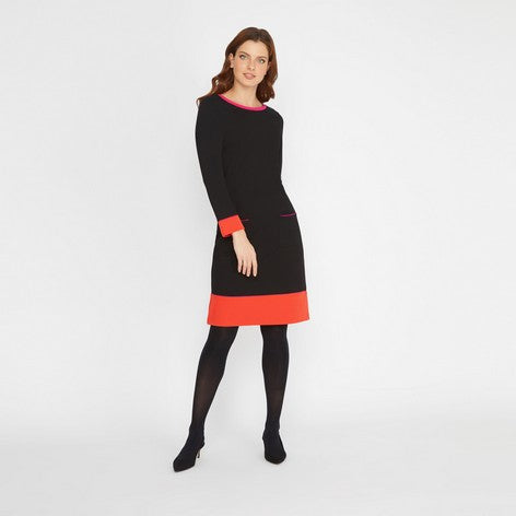 Border Contrast Dress
