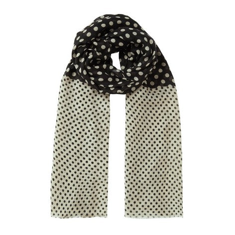 Black and Blonde Spotted Scarf
