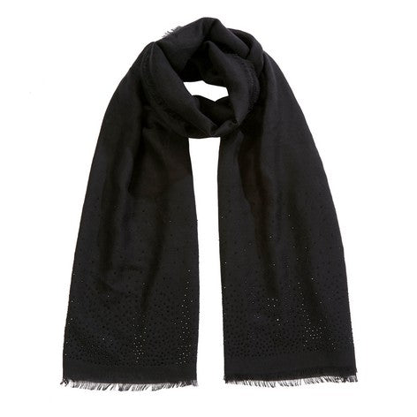 Black Diamante Scarf