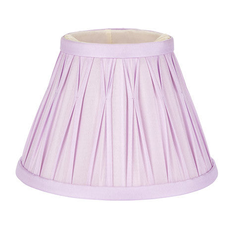 Fenn Pinched Pleat Lavender Silk Shade