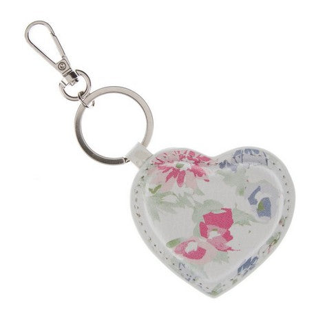 Painterly Floral Heart Keyring