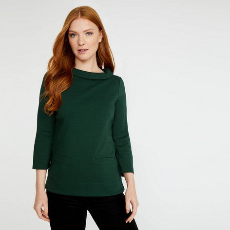 Evergreen 3/4 Sleeve Bardot Top