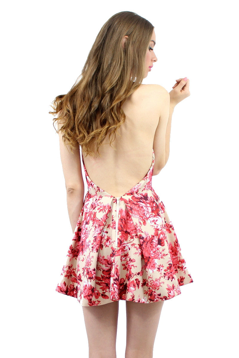 ARIZONA Dress Floral Print Beige