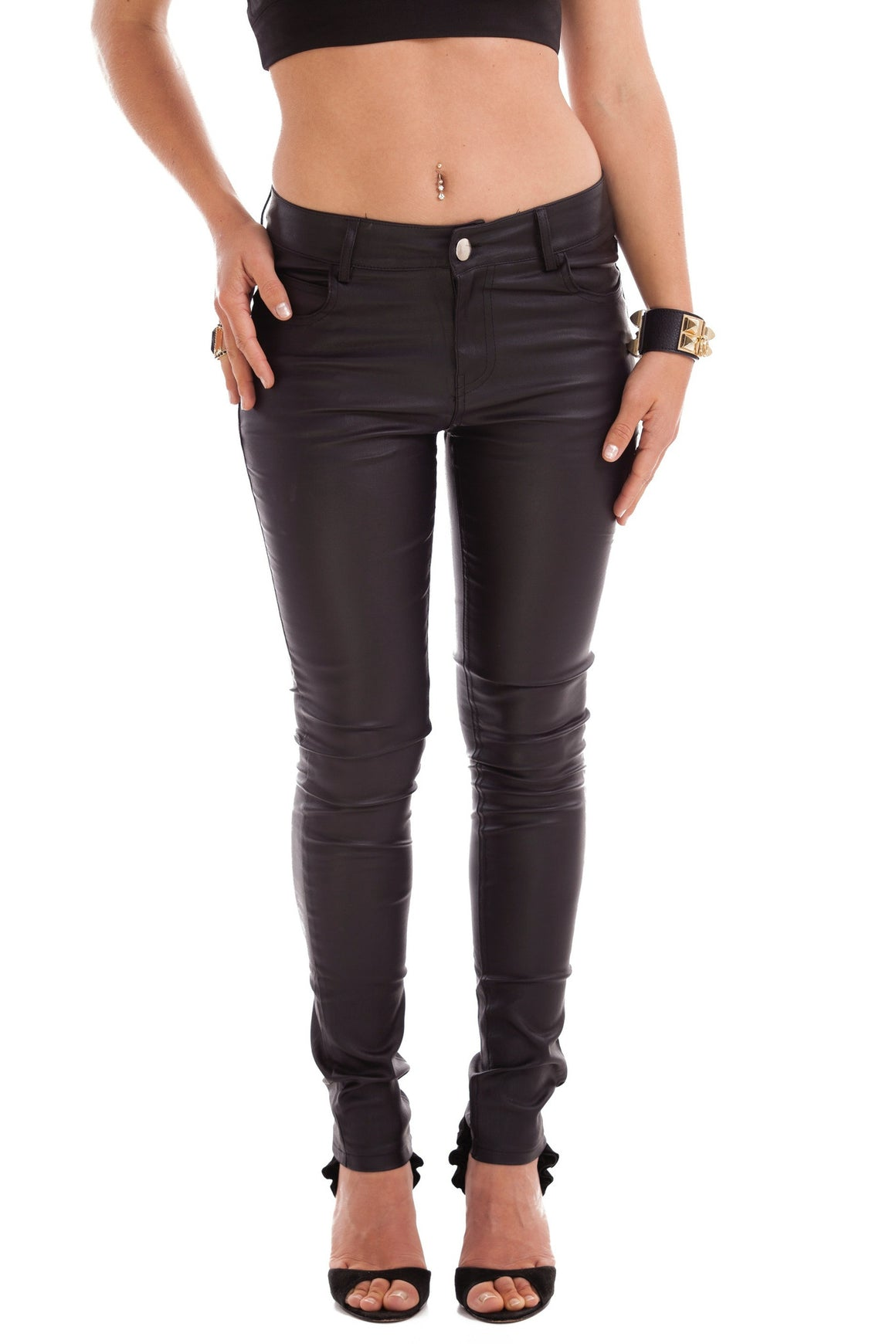 VIKA Wax Black Jeans