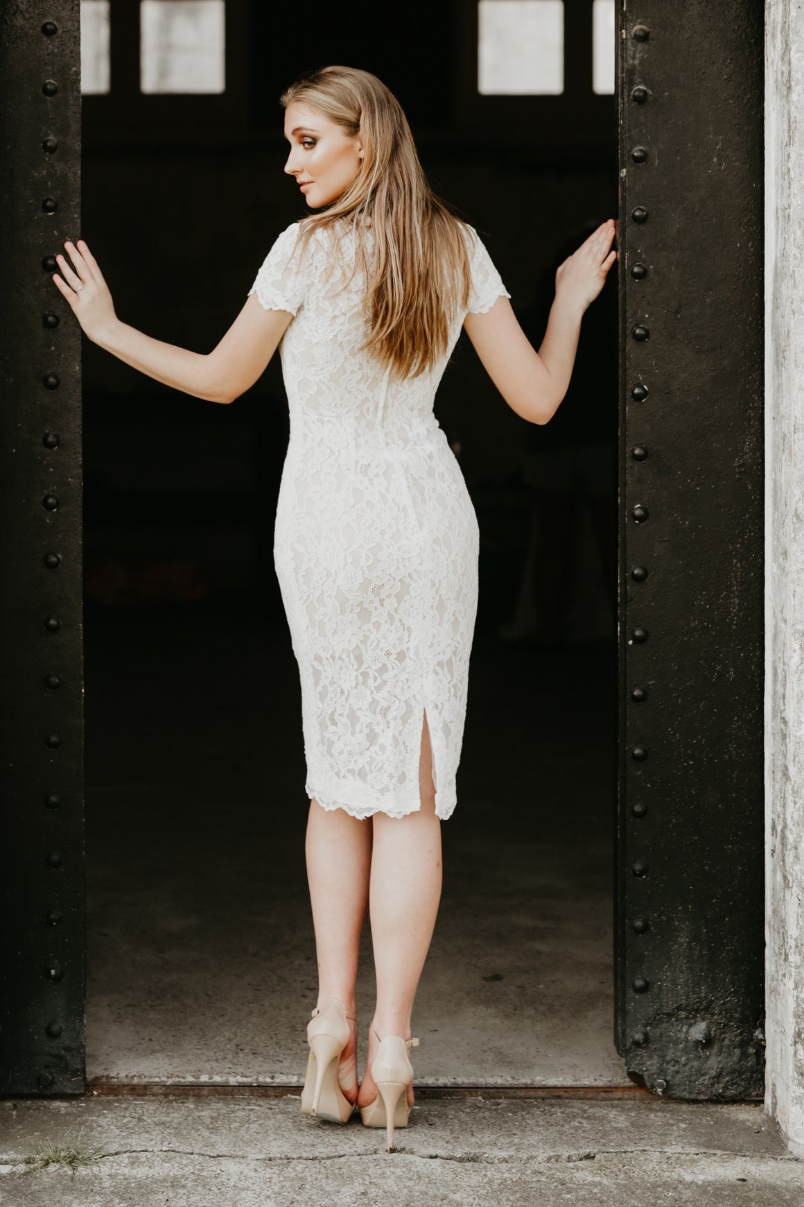 Destiny Ivory Lace Dress