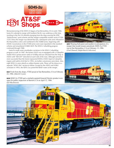 Santa Fe Power In Color Volume 4: Electro-Motive Six-Axle Hood Units<br><i><small>January 5, 2021 Release</small></i>