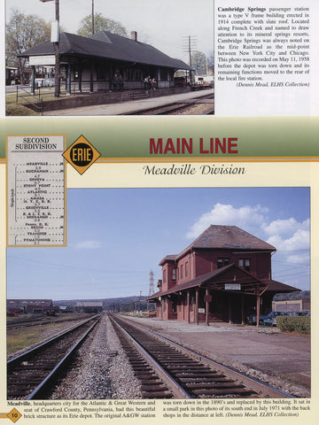 Erie Railroad Facilities In Color Volume 3: PA, OH, IN, IL