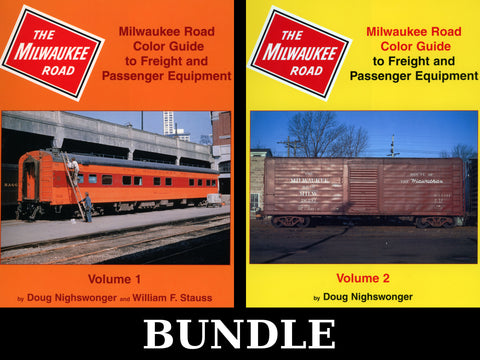 Milwaukee Road Color Guide to Freight and Passenger Equipment Volumes 1 and 2 Bundle (Digital Reprints)
