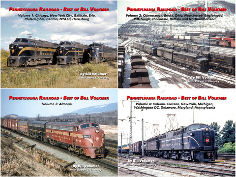 Pennsylvania Railroad - Best of Bill Volkmer Volumes 1-4 Bundle (eBooks)