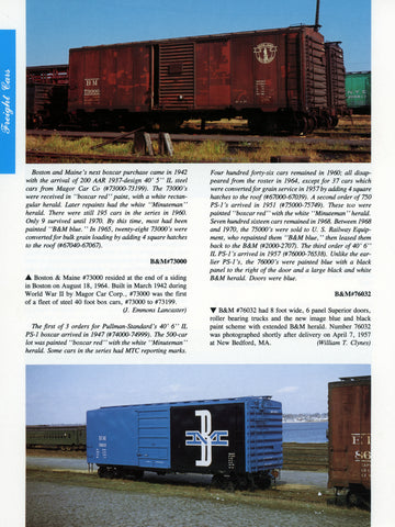 Northern New England Color Guide to Freight and Passenger Equipment (Digital Reprint)