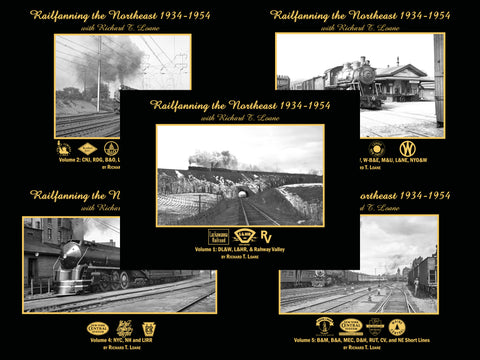 Railfanning the Northeast 1934-1954 with Richard T. Loane Volumes 1-5 Bundle (eBooks)