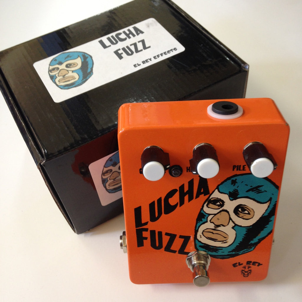 El Rey Effects Lucha Fuzz  Orange w/graphic