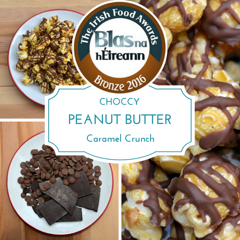 Choccy Peanut Butter Caramel Crunch - Gourmet Popcorn Cornude Artisan Popcorn Ireland Weddings Events Parties Marketing PR