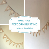 Popcorn Bunting - Gourmet Popcorn Cornude Artisan Popcorn Ireland Weddings Events Parties Marketing PR