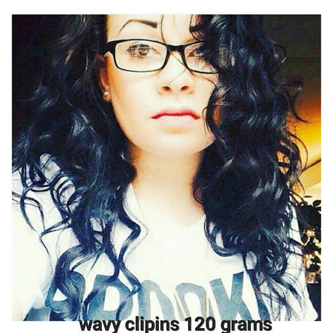 Wavy Clip Ins (120 grams) - La Bella Milan Virgin Hair