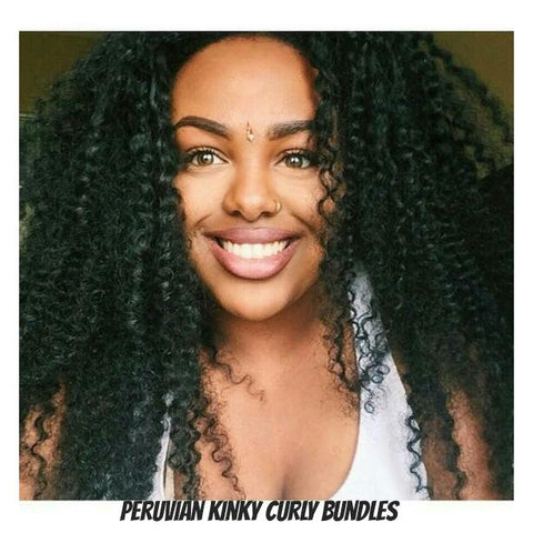 Peruvian Kinky Curly Wefted Hair - La Bella Milan Virgin Hair