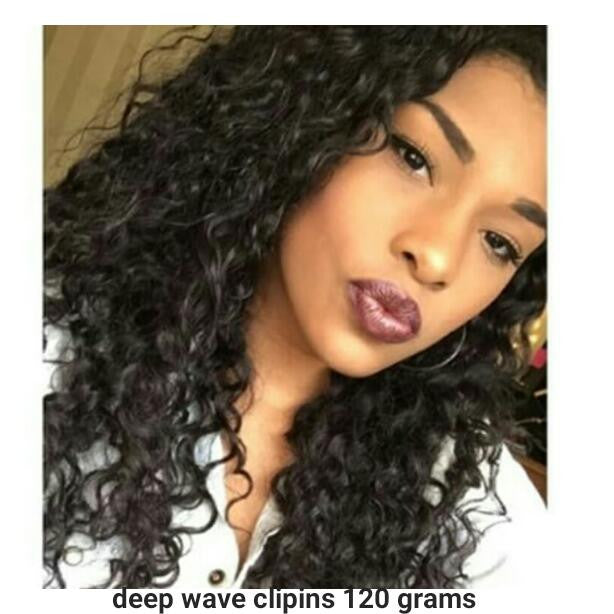Deep Wave Clip Ins (120 grams) - La Bella Milan Virgin Hair  - 1
