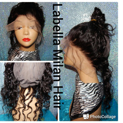 360 lace frontal wig cap - La Bella Milan Virgin Hair  - 1