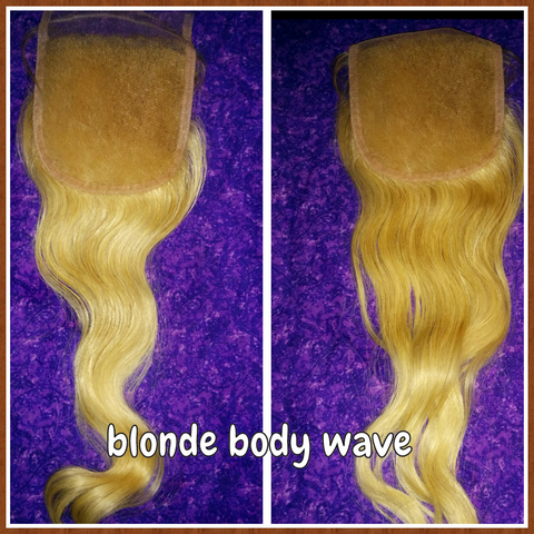 Brazilian Blonde Body Wave Lace Closure - La Bella Milan Virgin Hair