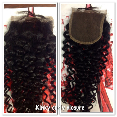 Kinky curly Lace Closures - La Bella Milan Virgin Hair