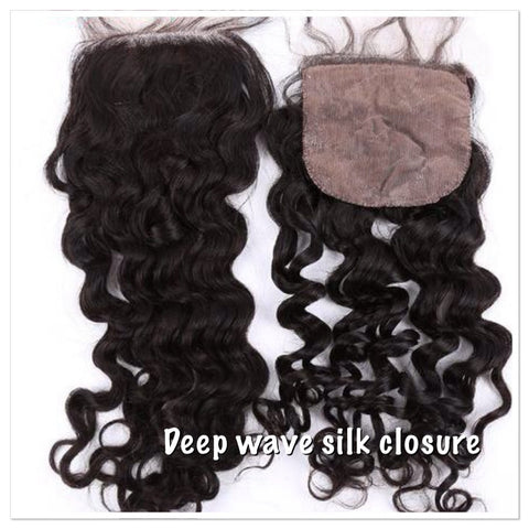Deep Wave Silk Base Closure - La Bella Milan Virgin Hair