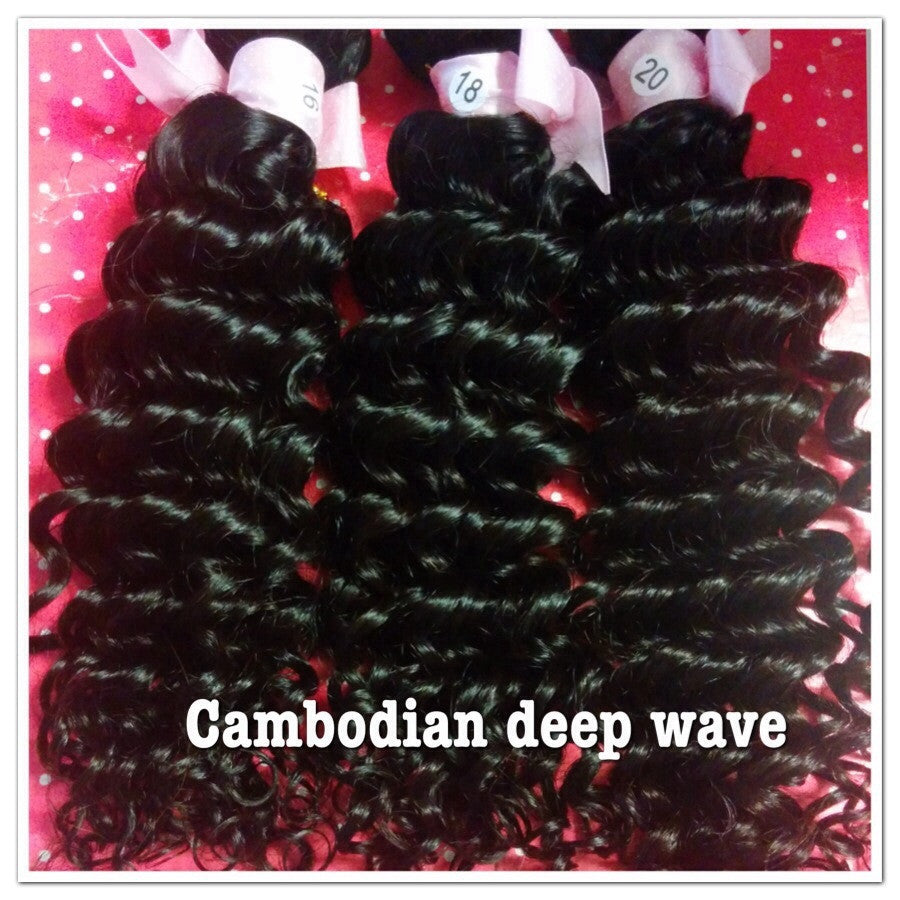 Cambodian Deep Wave Wefted Hair - La Bella Milan Virgin Hair  - 3
