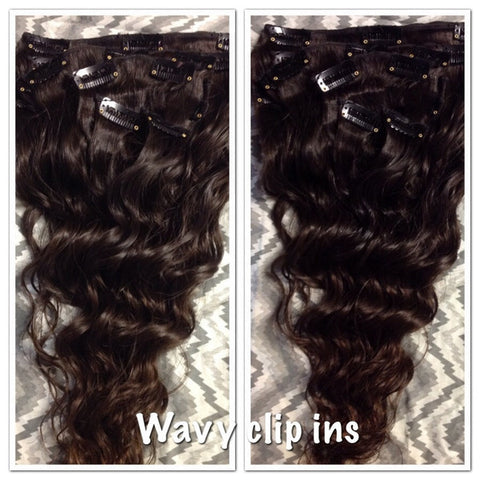 Wavy Clipins (Deluxe 220 Grams) - La Bella Milan Virgin Hair