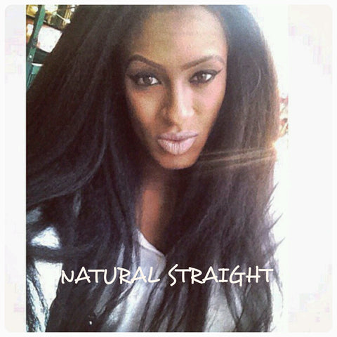 Brazilian Natural (Kinky) Straight Wefted Hair - La Bella Milan Virgin Hair  - 1