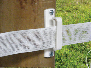 Patriot | Wood Post Wide Tape Insulator (White)