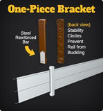 1-Piece Rail Bracket - Centaur Fencing - 3