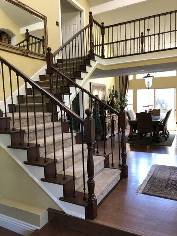 how to fix a broken balusters modern home stair railings