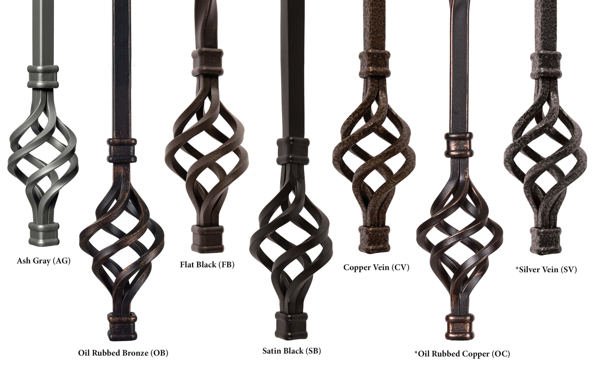 Hollow Iron Baluster Colors