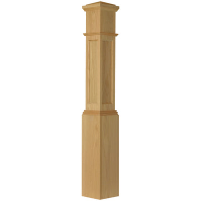 "American 7-1/2"" X 55"" 4092 Recessed Flat Panel Box Newel"