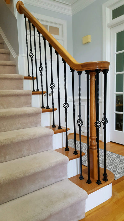 "Twist Series 1/2"" Square x 44""H Single Twist Hollow Iron Baluster (9001)"