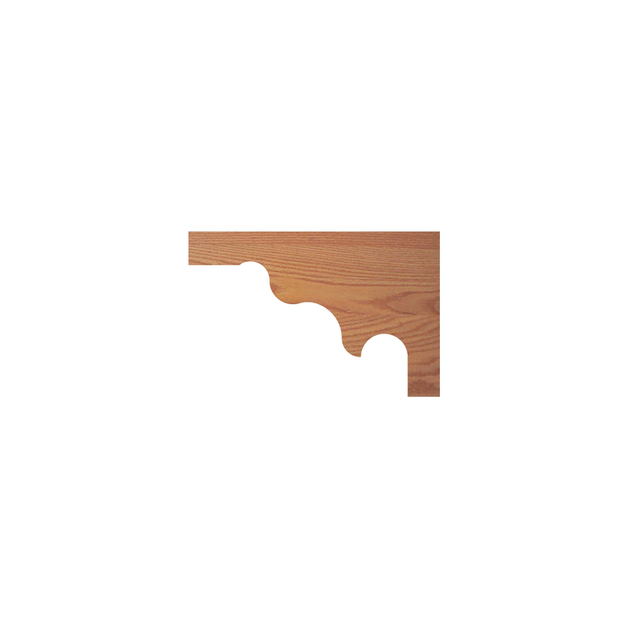 "Decorative 12""W x 8-1/4""H Stair Tread Bracket (1080, 1090)"