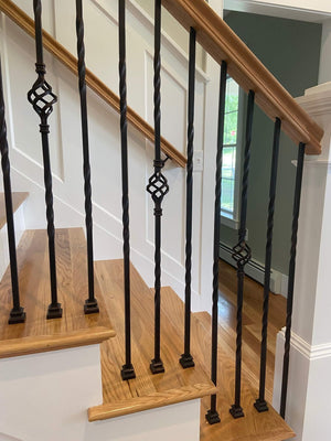 Hollow LIH-HOL2TW44 Silver Vein Double Twist Baluster