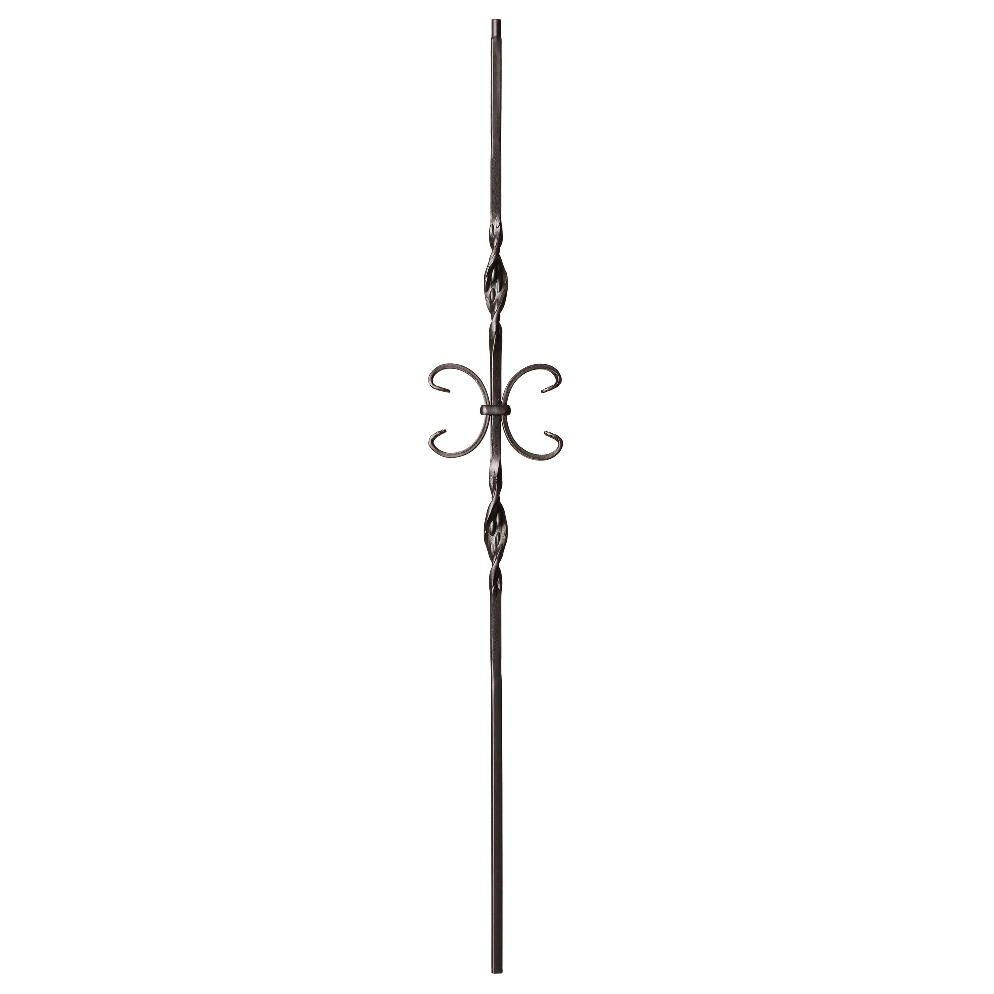 "Ribbon Series 1/2""Square x 44""H Double Ribbon and Butterfly Hollow Iron Baluster (9014RS)"