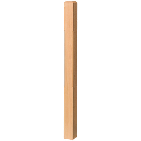 "Contemporary 3-1/2"" 4002-48C Solid Chamfered Newel w/Chamfered Top (4002-48C, 4002-60C)"