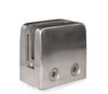 "316 Stainless Steel Glass Clamp 1 3/4"" x 1 3/4"" x 1 3/32""for Flat Tube -  E11100000"