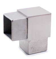 "90 Degree Stainless Steel Fitting for Square Tube 1-9/16"" (E4713)"