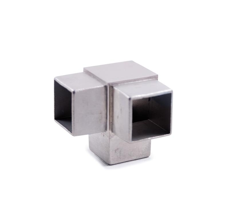 "Stainless Steel Corner Fitting for Square Tube 1-9/16"" (E4723)"
