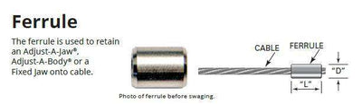 "Ferrule for 3/16"" Stainless Steel Cable Wire (GF-6)"