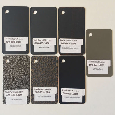 Hollow Iron Color Powder Coat Sample Pack (HOLLOWSAMPLE)