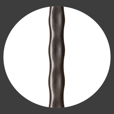 "Hammered Face Series 9/16"" Square x 44-3/32""H Double Ball with Hammered Face - Hollow Iron Baluster (9033HF)"