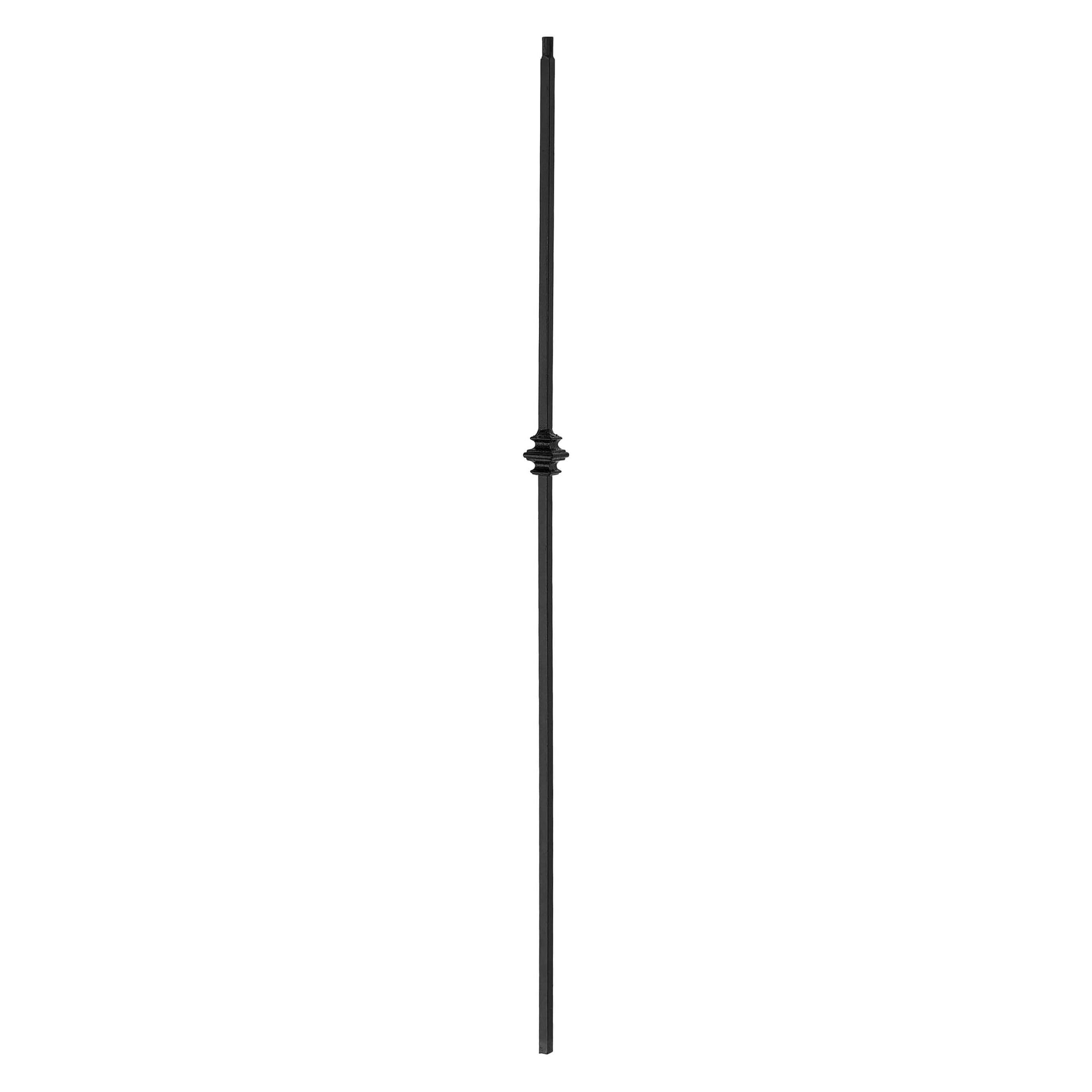 "Shape Series 1/2"" Square x 44""H Single Knuckle Solid Iron Baluster (PC49/1)"