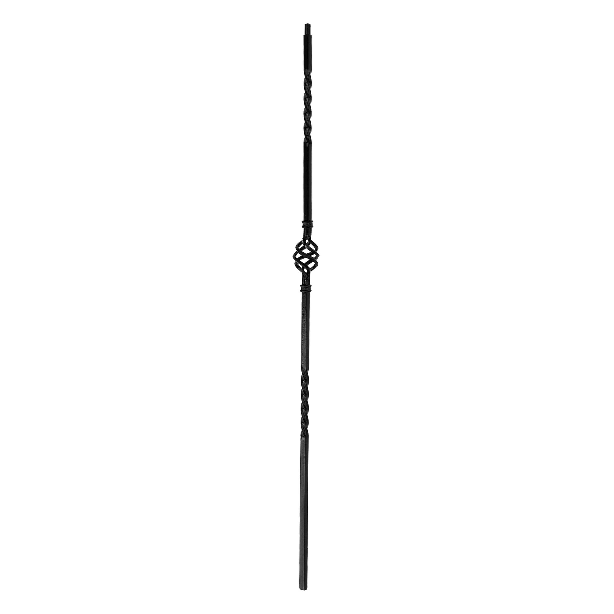 "Twist Series Square 44-3/32""H Single Basket Double Twist Solid Iron Baluster (PC6/1, PC6/2)"