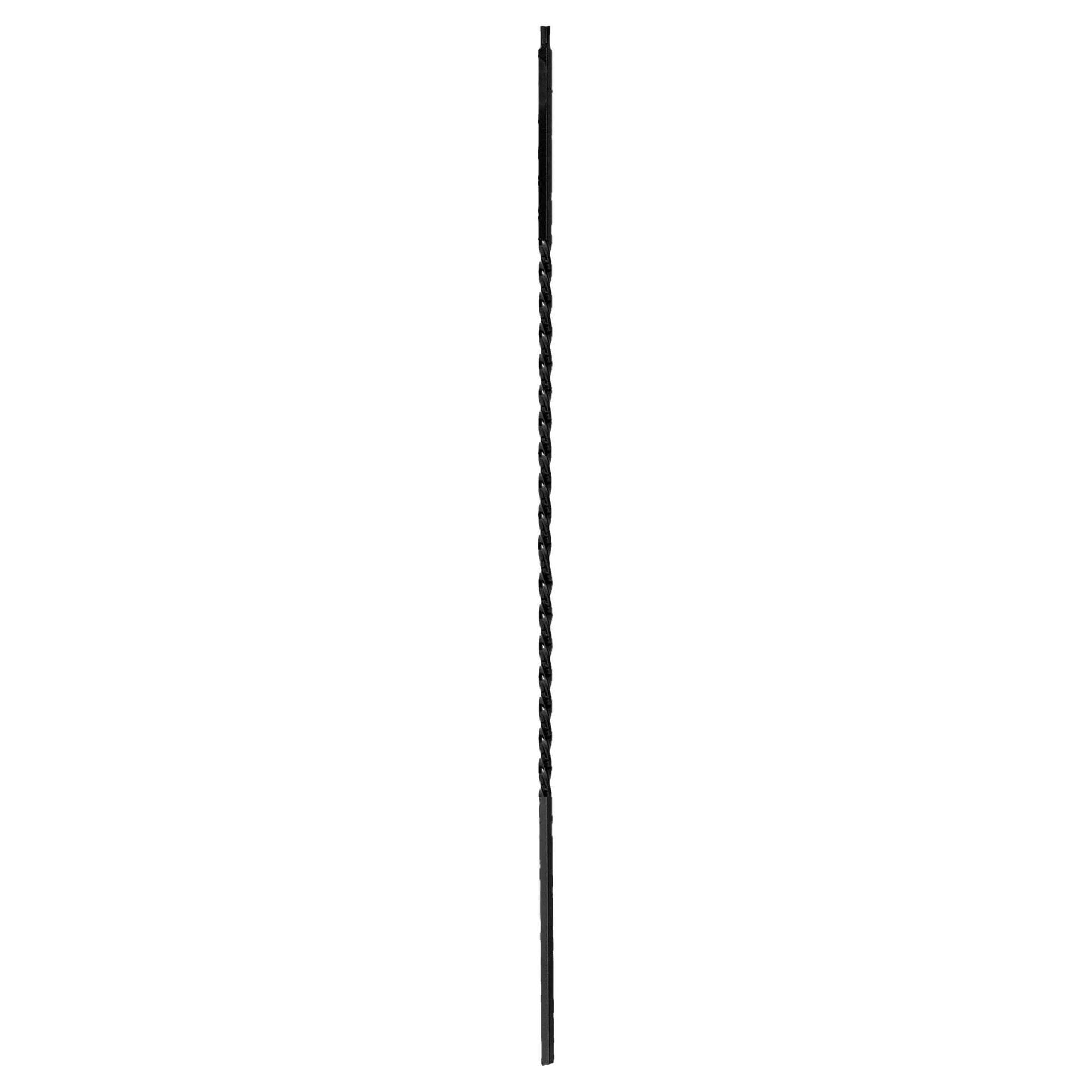 "Twist Series Square 44-3/32""H Long Single 24"" Twist Solid Iron Baluster (PC8/1, PC8/2)"