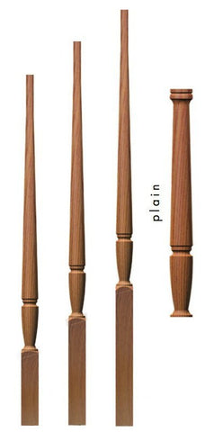 "Bunker Hill 1-3/4"" 1234 Elegant Rise Pin Top Baluster - Stair Parts USA - 1"